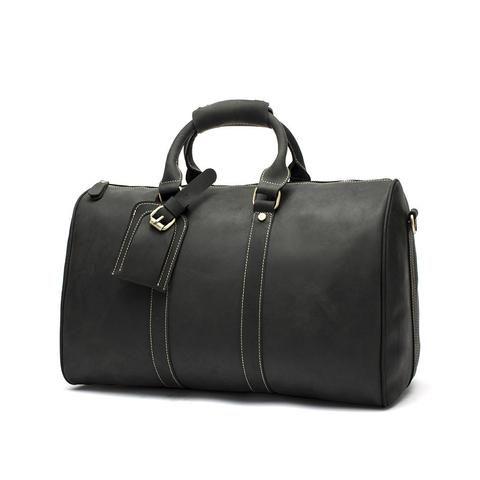 Handmade Leather Travel Bag Mens Gym Duffle