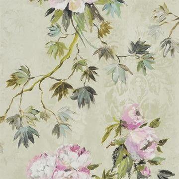Floreal tapeter från Designers Guild hos Engelska Tapetmagasinet. Blommigt blå/grön/turkos tapet. Köp fraktfritt online eller besök butiken i Göteborg.
