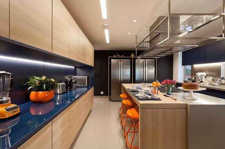 Uma decoração que gira em torno da cozinha…
