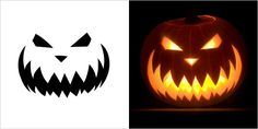 4 stencil carving 5 Best Halloween Scary Pumpkin Carving Stencils 2013