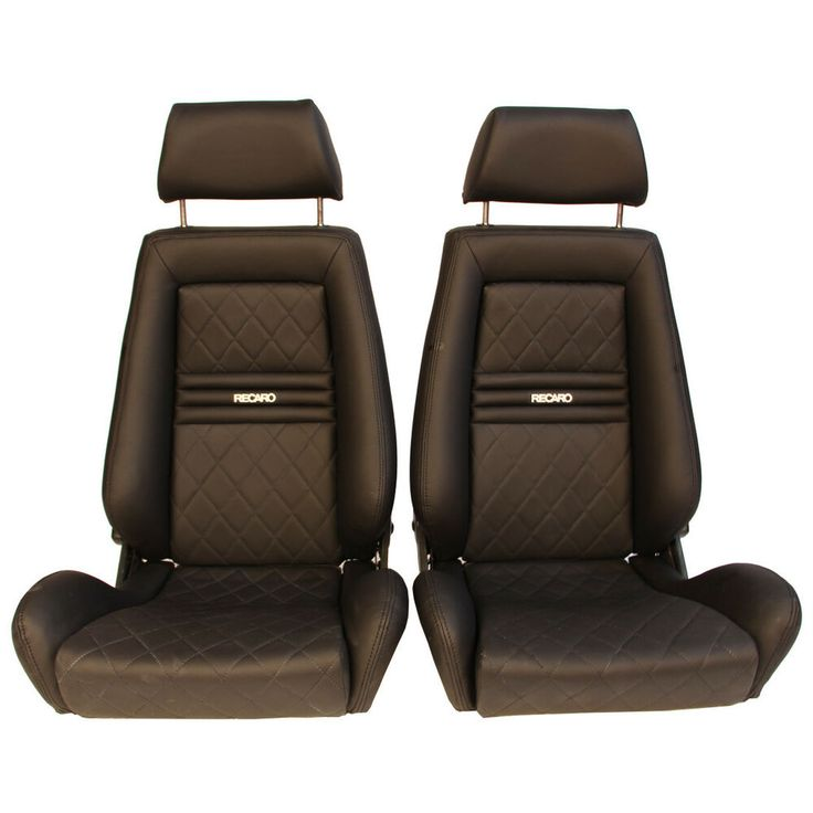 2 jdm recaro lx classic leather reclinable solid headrest