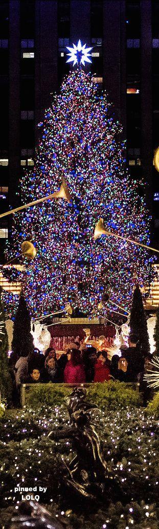 Rockefeller Center Christmas Tree, New York City! .❤️