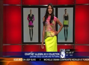 16-Year-Old Courtney Allegra's 2013 Collection featured  on KTLA Morning News! The new pieces are AMAZING!!!! #KTLA #CourtneyAllegra