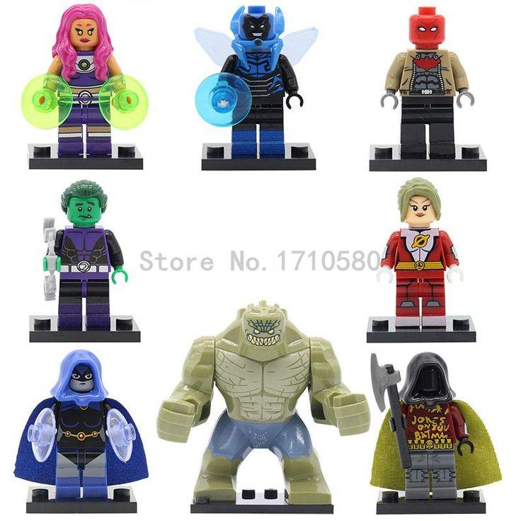 XINH 347-354 DC Легион Супер Героев Одной Продажи Мини Зверь Мальчик Starfire Черная Ворона Робин Строительные Блоки детские Игрушки #shoes, #jewelry, #women, #men, #hats, #watches