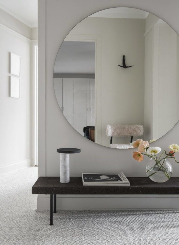 big mirror in foyer