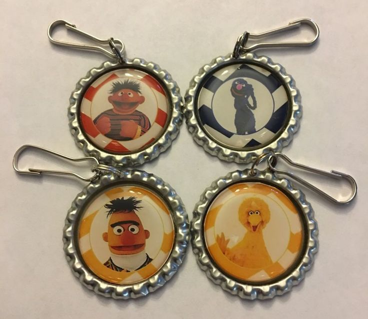 Handmade Sesame Street Inspired Kids Zipper Pull Set of 4 Burt Ernie Big Bird | Clothing, Shoes & Accessories, Kids' Clothing, Shoes & Accs, Girls' Clothing (Sizes 4 & Up) | eBay!
