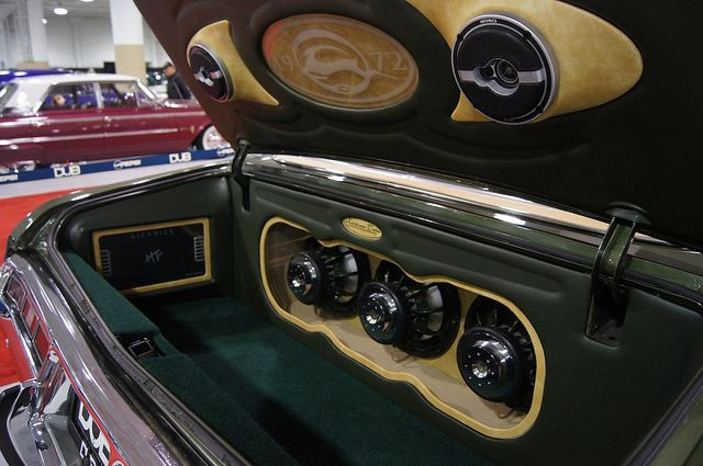 72 Impala Custom Car Stereo Trunk Install Subwoofers