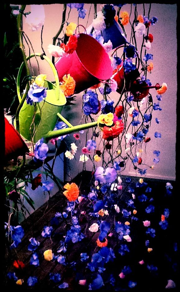 Spring window display 2012 by melton it 39 s raining flowers - Window decorations for spring ...