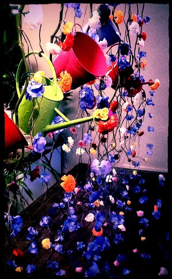 Spring Window Display 2012 by Melton -It's Raining Flowers #florist #windowdisplay