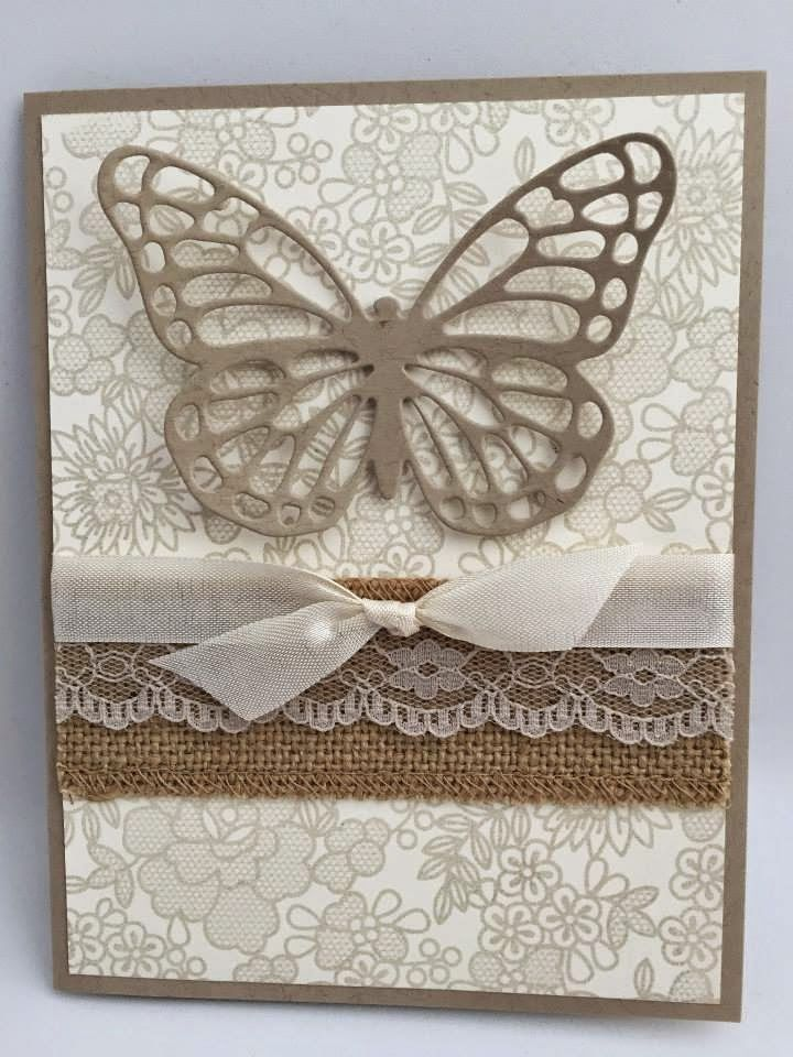 Stampin' Studio, Stampin' Up! Butterflies Thinlit, Something Lacy,s