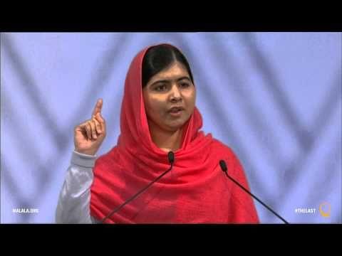 Malala Yousafzai Nobel Peace Prize acceptance speech, 2014.