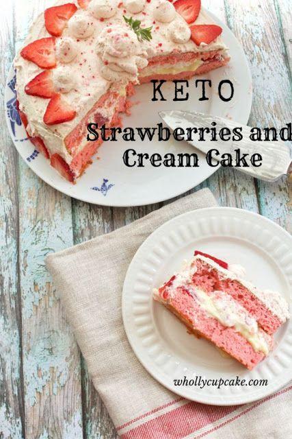 Low Carb Erdbeer-Sahne-Kuchen Rezept | Grace Family Rezepte #lowcarb #lowca …