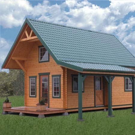 20x20 cabin 32k small home plans pinterest cabin for Kit homes duplex