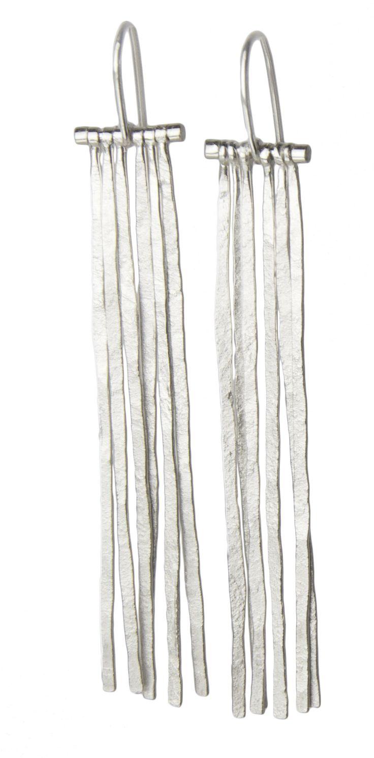 Fringe Earrings: Sophie Hughes: Silver Earrings - Artful Home