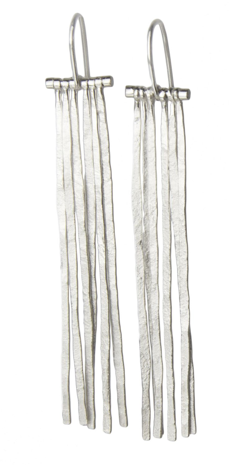 Fringe Earrings by Sophie Hughes: Silver Earrings available at www.artfulhome.com