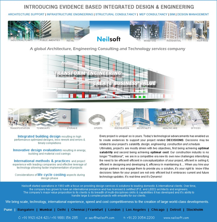 INTRODUCING EVIDENCE BASED INTEGRATED DESIGN & ENGINEERING form Neilsoft