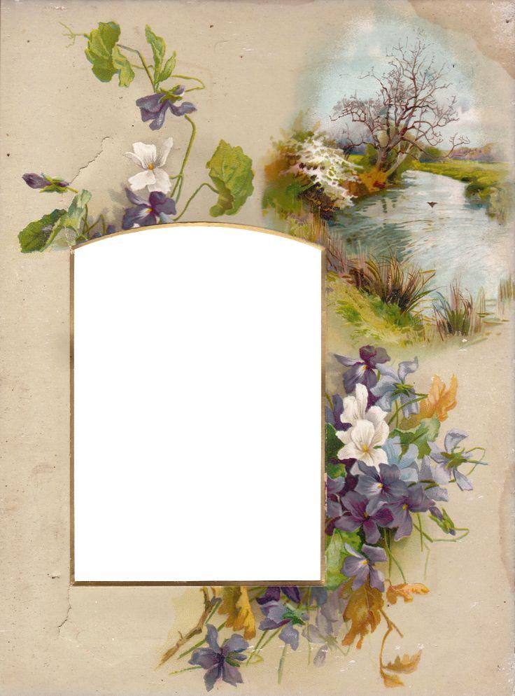Vintage Springtime Album Frame ~ Zibi Vintage Scrap