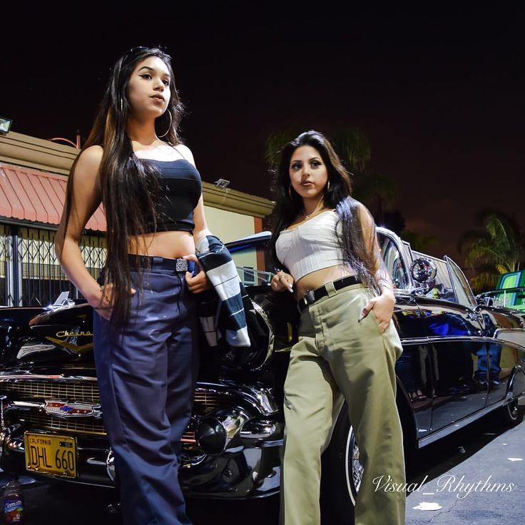 57 Chevy Belair And Chicanitas Locas...