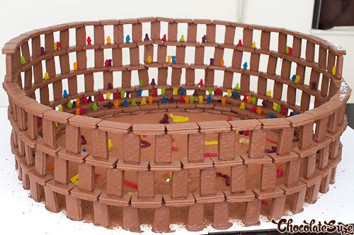 Here at Serious Eats we love building things out of food. There was the time we built an edible football stadium, and most recently, a train made from Bouche de Noels. So this surprisingly accurate colosseum made out of Tim Tams (Australia's favorite cookie!) is just up our alley.