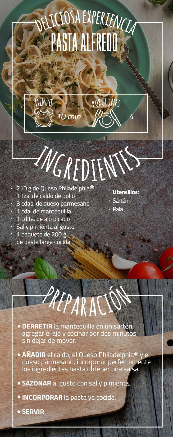 #VuelveACasa Y dale un giro a la Pasta Alfredo con el sabor de Philadelphia. #recetas