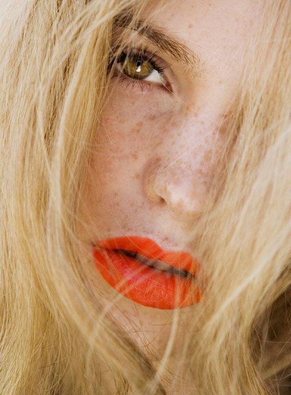 """Love a coral-y lip in the summer looks """"done"""" without any effort (or fear of sweating it off...)"""