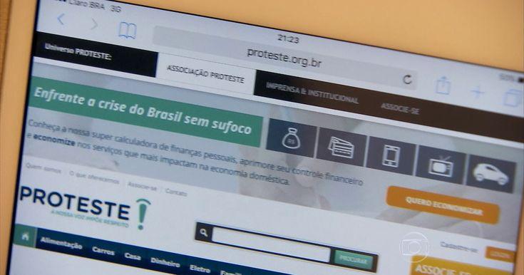 """Calculadora virtual ajuda consumidor brasileiro a economizar nos gastos A Proteste, associação de consumidores, criou a campanha """"aqui  se economiza"""". Você acessa o site e aparece uma super calculadora."""