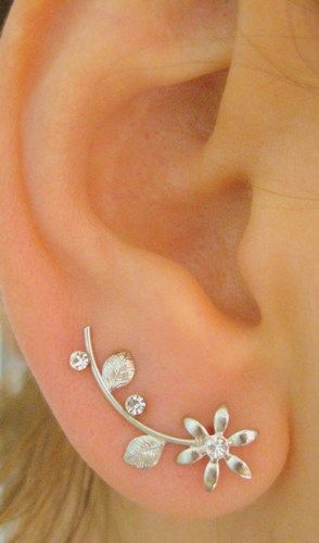 EAR SWEEP WRAP / CUFF for pierced ear which is a pair. Height of the ear sweep is approx. 2.5 cm - 1 inch You will reveice a pair. I do ship all my jewelry with nice package ready to give away. S