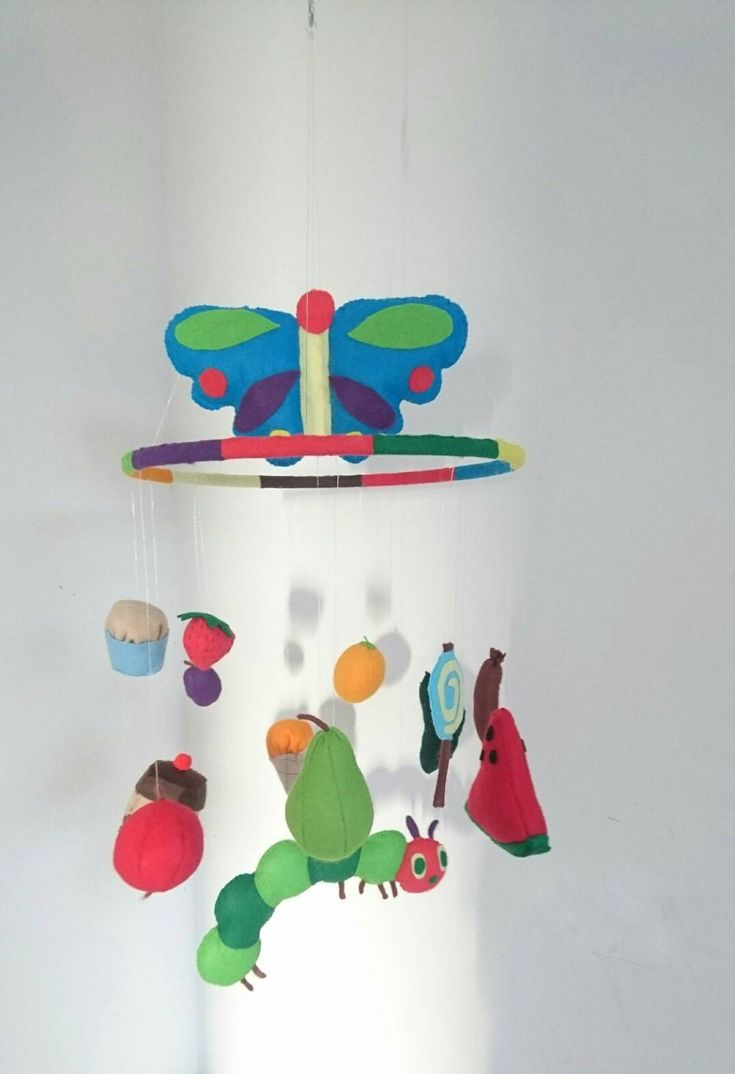 best nursery mobiles images on pinterest  nursery mobiles  - the very hungry caterpillar baby mobile