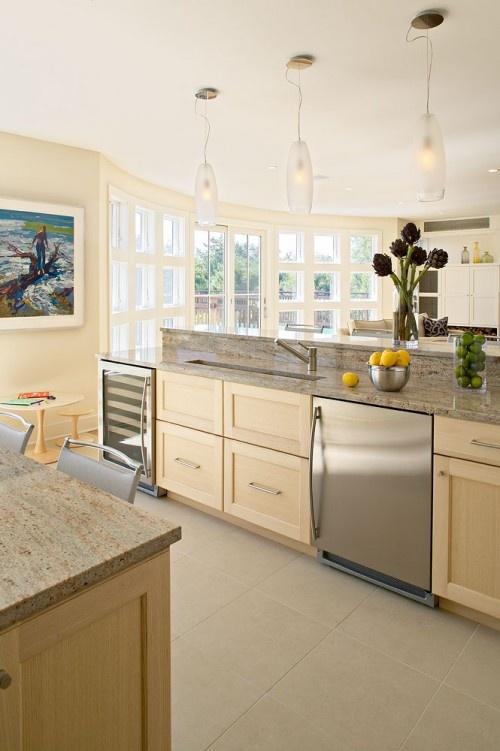 Love these windows: Beach Retreat, Linda Burkhardt, Contemporary Kitchens, Bath, Beach Styles, Kitchen Ideas, Design