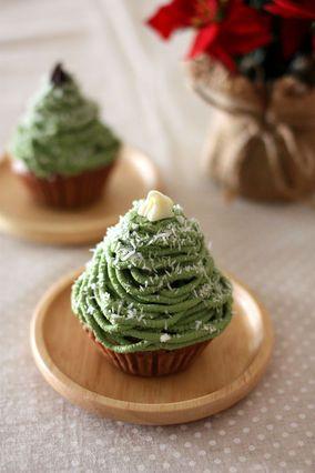 豆腐クリーム&米粉蒸しパンの クリスマスツリー★モンブラン|レシピブログ