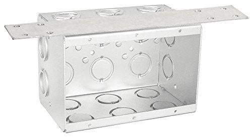 3 Gang Concrete Brick/Block Box With Stablizer Bracket-2 per case #Gang #Concrete #Brick/Block #With #Stablizer #Bracket #case