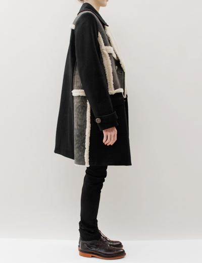 United Bamboo Lapel Coat- Black