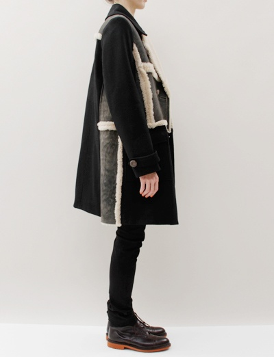 United Bamboo Lapel Coat- Black
