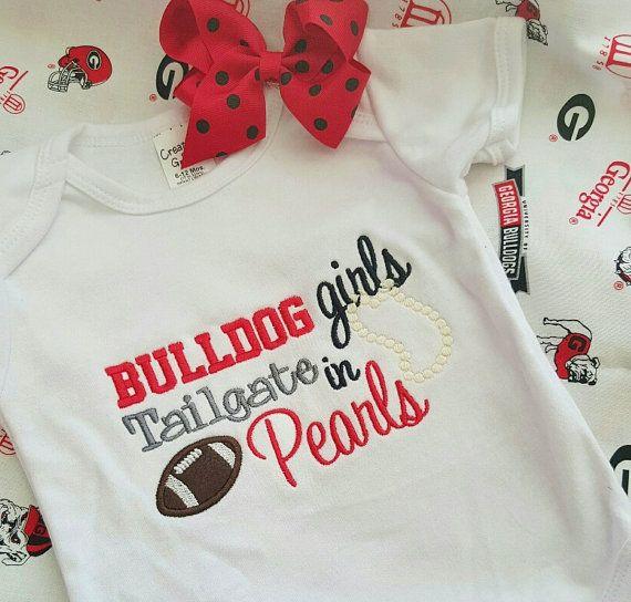 Georgia Bulldogs UGA University of Georgia ..... Bulldog Girls Tailgate in Pearls ...... Personalized ...... Embroidered Monogram Shirt .... on Etsy, $24.50