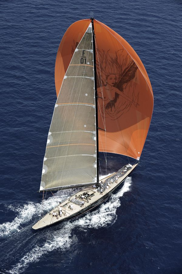 Sailing with the spinnaker on a yacht! (Kevlar sails fascinate me too! :)  I lov…