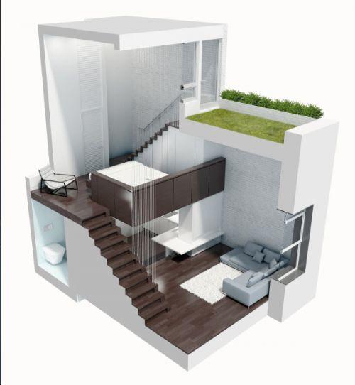 Manhattan Micro Loft Manhattan by Specht Harpman Architects...looks way bigger than 425 sq ft!