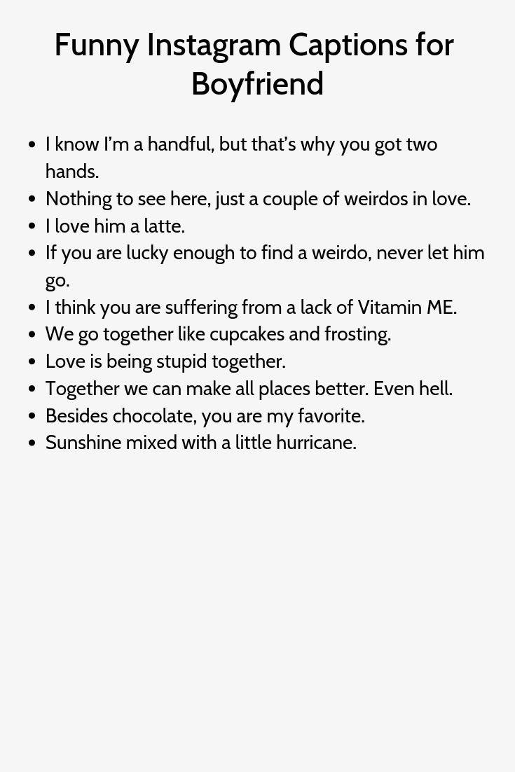 Funny Instagram Captions for Boyfriend