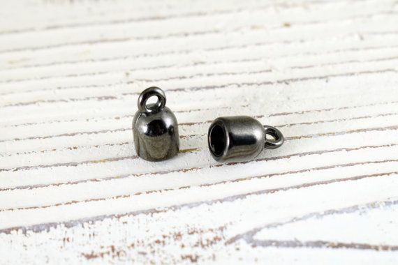 Cord Ends 8x13mm for Cord up to 5mm Gun Metal Cord Ends