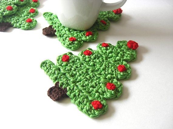 Inspiration~Christmas Tree Coasters