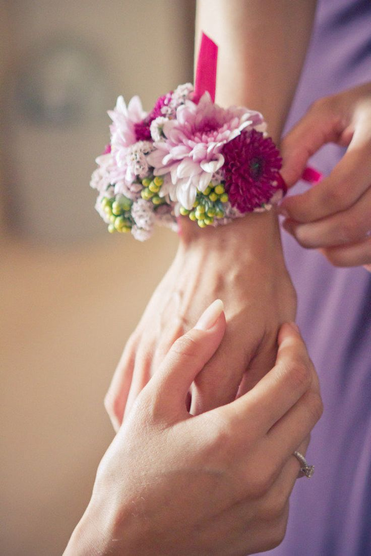 corsages for the maids/bride