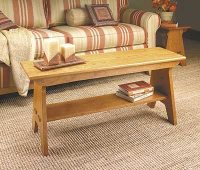 Woodworking Project Plan Nantucket Bench