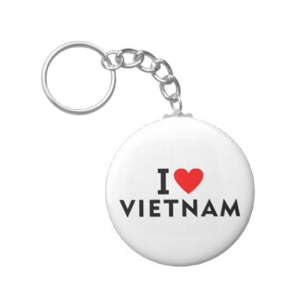 I love Vietnam country like heart travel tourism Keychain - love gifts cyo personalize diy