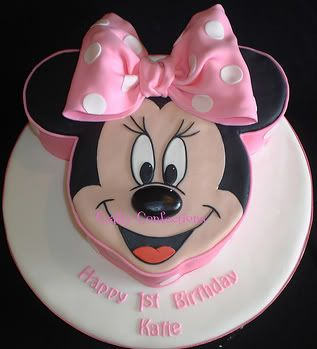 Minnie Mouse Birthday Cake oddly it has my name on it!!