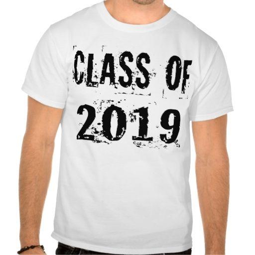 Black Grunge Class of 2019 Tee Shirt