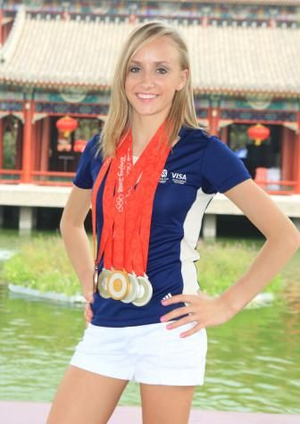 Liukin earned her fifth Olympic medal, a silver medal in the balance beam final, on August 19 at the 2008 Beijing Summer Olympics