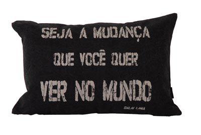 FF - 034 almofadas para presentes frase dalai lama | Velha Bahia