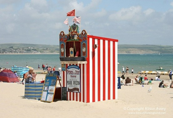 Punch And Judy Show on Weymouth Beach