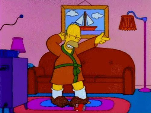 The Simpsons: 7 GIFS de esta serie de culto...Danza Homero...