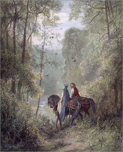 mad-moiselle-bulle:  Gustave Dore, Lancelot & Guinevere.