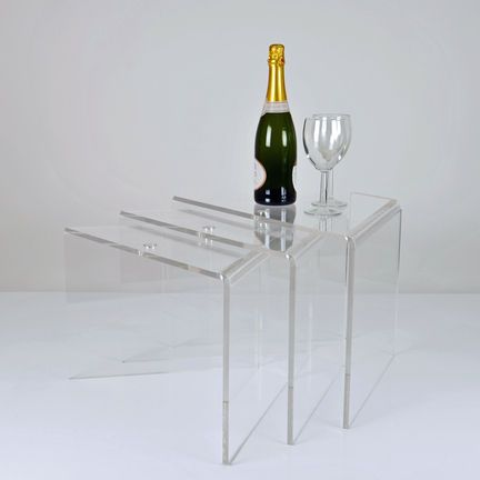 acrilic furniture. shaped nesting acrylic tables the nest of sit neatly inside each other for compact acrilic furniture